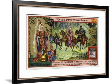 Mary of Burgundy and Her Husband, Archduke Maximilian of Austria, Hunting, 1482--Framed Art Print