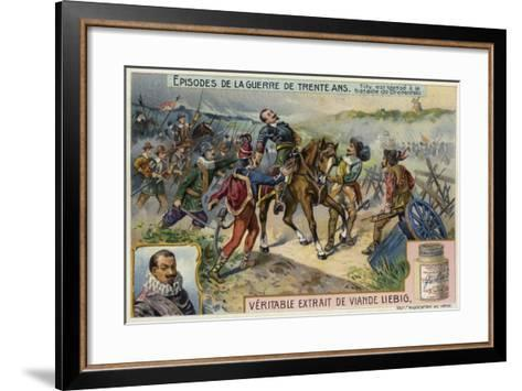 The Count of Tilly Is Wounded at the First Battle of Breitenfeld, Germany, 1631--Framed Art Print