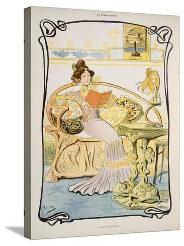 The Modern-Style Woman, Illustration from 'Au Temps Present' Magazine C.1895--Stretched Canvas Print