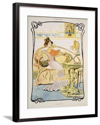 The Modern-Style Woman, Illustration from 'Au Temps Present' Magazine C.1895--Framed Art Print