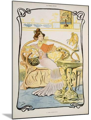 The Modern-Style Woman, Illustration from 'Au Temps Present' Magazine C.1895--Mounted Giclee Print