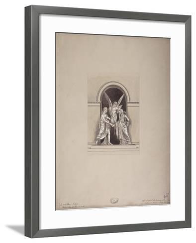 Tomb of Felix and Elisa Baciocchi, San Petronio Basilica, Bologna, C.1900-20--Framed Art Print