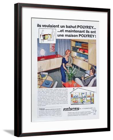 Advertisement for Polyrey Furniture, from 'Maison France' Magazine, July 1960--Framed Art Print