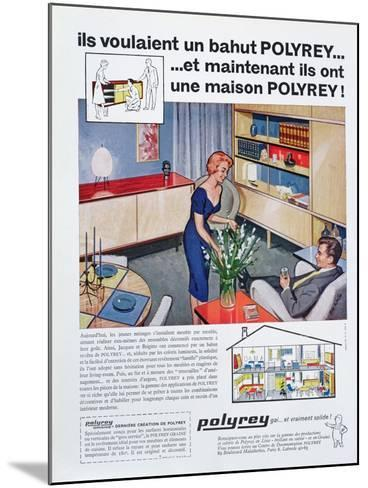 Advertisement for Polyrey Furniture, from 'Maison France' Magazine, July 1960--Mounted Giclee Print