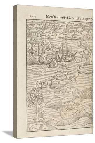 Page 1004 from 'Cosmographiae Universalis' by Sebastian Muenster, Basel, 1572--Stretched Canvas Print