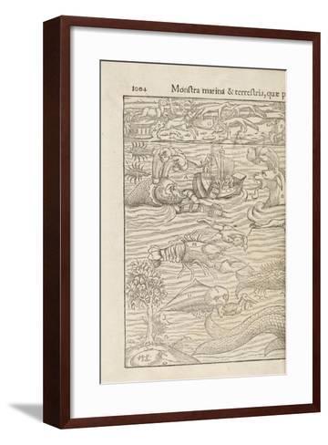 Page 1004 from 'Cosmographiae Universalis' by Sebastian Muenster, Basel, 1572--Framed Art Print
