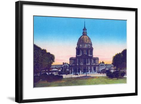 Dome of the Invalides, from 'Souvenirs De Paris - Monuments Vues En Couleurs'--Framed Art Print