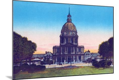 Dome of the Invalides, from 'Souvenirs De Paris - Monuments Vues En Couleurs'--Mounted Giclee Print