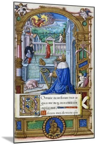 King David with a Harp, from a Book of Hours Made for Francois I, C.1532-1540--Mounted Giclee Print