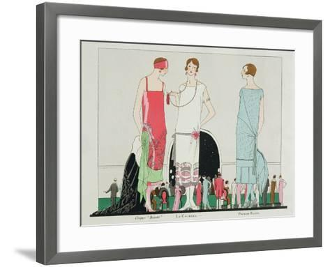 Evening at the Casino, Fashion Plate from 'Art, Gout, Beaute', Pub. Paris, 1920's--Framed Art Print