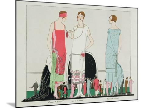 Evening at the Casino, Fashion Plate from 'Art, Gout, Beaute', Pub. Paris, 1920's--Mounted Giclee Print