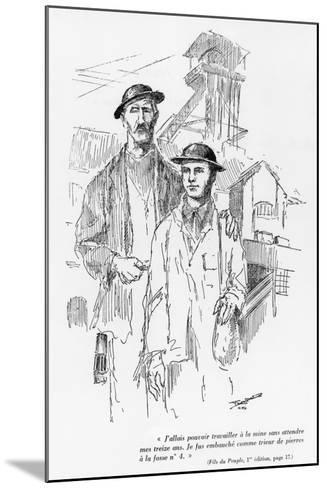 One of the 15 Drawings of the First Edition of 'Fils Du Peuple'--Mounted Giclee Print
