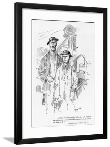 One of the 15 Drawings of the First Edition of 'Fils Du Peuple'--Framed Art Print