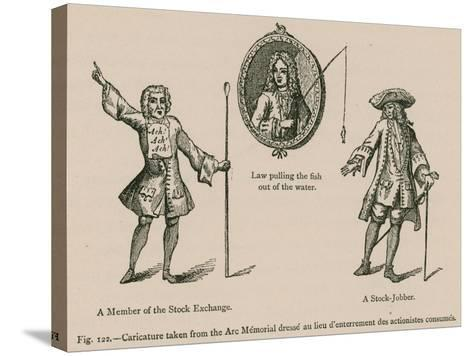 Caricature Taken from the Arc Memorial Dresse Au Lieu D'Enterrement Des Actionistes Consumes--Stretched Canvas Print