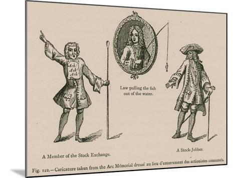 Caricature Taken from the Arc Memorial Dresse Au Lieu D'Enterrement Des Actionistes Consumes--Mounted Giclee Print