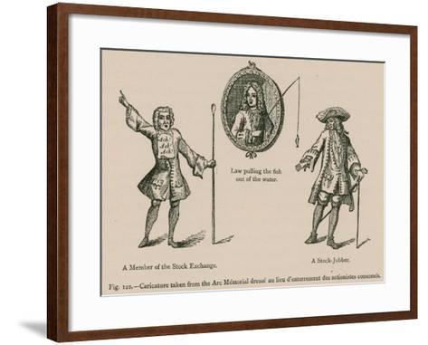 Caricature Taken from the Arc Memorial Dresse Au Lieu D'Enterrement Des Actionistes Consumes--Framed Art Print