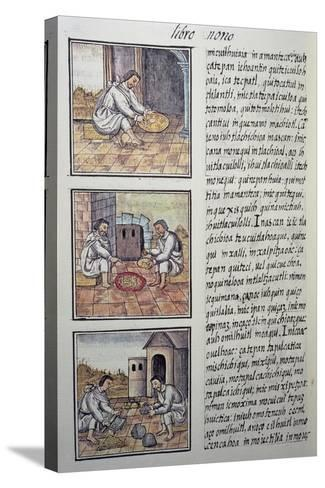 Gold Processing after the Spanish Conquest, Page from the Florentine Codex--Stretched Canvas Print