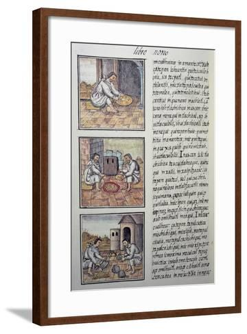 Gold Processing after the Spanish Conquest, Page from the Florentine Codex--Framed Art Print