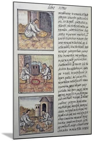 Gold Processing after the Spanish Conquest, Page from the Florentine Codex--Mounted Giclee Print
