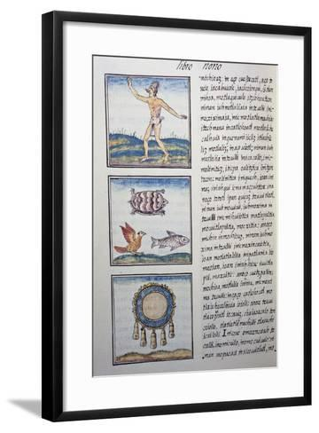 Goldsmith, Page from the Florentine Codex, Bilingual Version in Spanish and Nahuatl--Framed Art Print