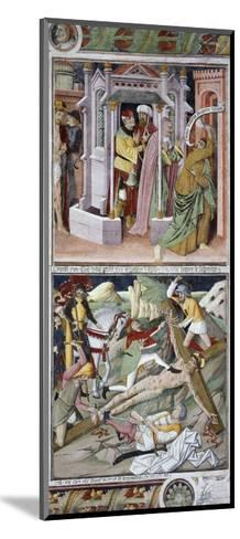 Remorse of Judas and Crucifixion-Giovanni Canavesio-Mounted Giclee Print