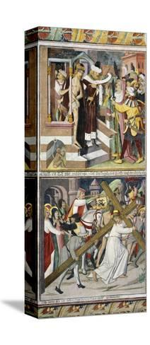 Ecce Homo and Jesus Carrying Cross-Giovanni Canavesio-Stretched Canvas Print