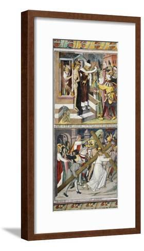Ecce Homo and Jesus Carrying Cross-Giovanni Canavesio-Framed Art Print