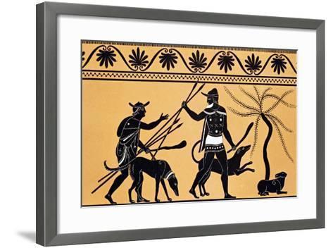 Hare Hunting from Collection Des Vases Grecs De Le Comte De M Lamberg-Alexandre De Laborde-Framed Art Print