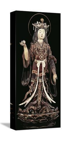 Kichijoten, Goddess of Beauty, Fertility and Prosperity, Statue, Japan, Heian Period, 12th Century--Stretched Canvas Print