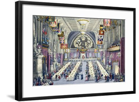 The Banquet at Guildhall, 9th November 1837--Framed Art Print