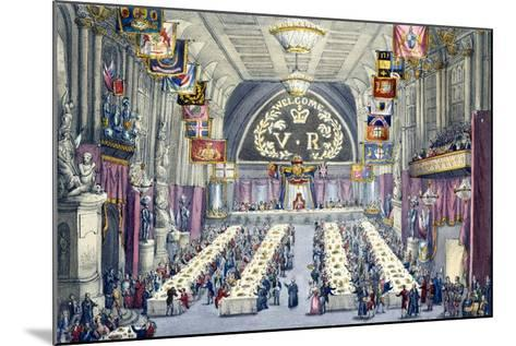 The Banquet at Guildhall, 9th November 1837--Mounted Giclee Print