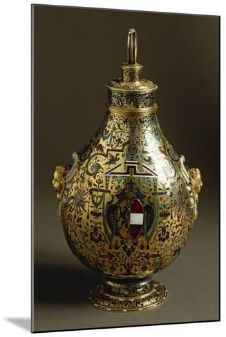 Enamelled Gold Flask with Salzburg Coat of Arms and Archbishop Wolf Dietrich Von Raitenau's Emblem-Hans Karl-Mounted Giclee Print