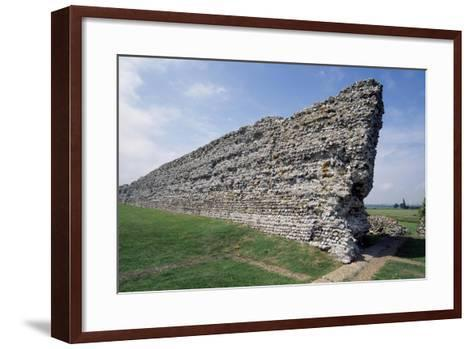 Ruins of the Northern Wall, Richborough Roman Fort, Kent, England, United Kingdom--Framed Art Print