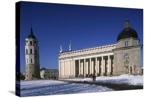 Lithuania, Vilnius, Old Town, Senamiestis, Cathedral, Arkikatedra Bazilika, Bell Tower--Stretched Canvas Print