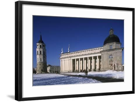 Lithuania, Vilnius, Old Town, Senamiestis, Cathedral, Arkikatedra Bazilika, Bell Tower--Framed Art Print