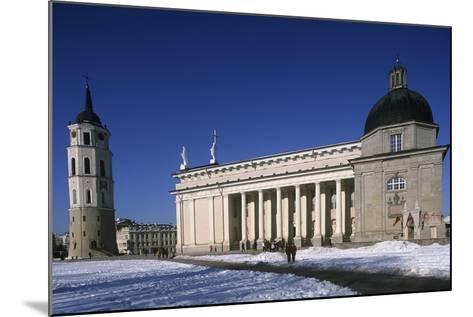 Lithuania, Vilnius, Old Town, Senamiestis, Cathedral, Arkikatedra Bazilika, Bell Tower--Mounted Giclee Print