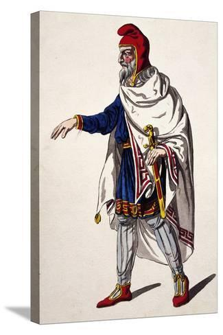 Iherold, Costume Sketch for the Clemency of Titus--Stretched Canvas Print