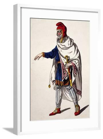 Iherold, Costume Sketch for the Clemency of Titus--Framed Art Print