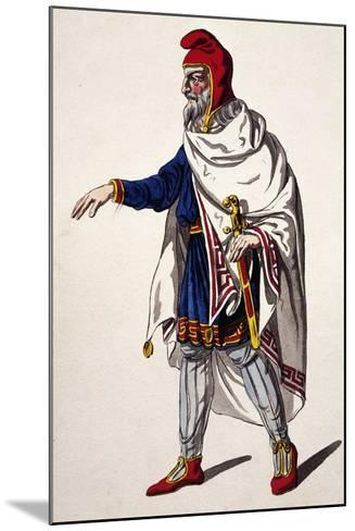 Iherold, Costume Sketch for the Clemency of Titus--Mounted Giclee Print