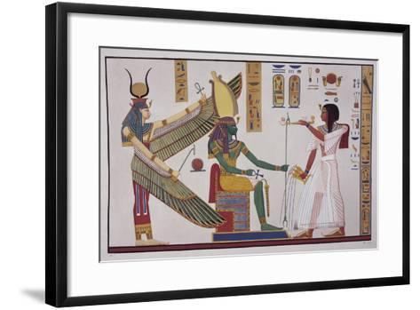 Ramesses Iv in Front of God Ptah-Sokari-Osiris-Ippolito Rosellini-Framed Art Print