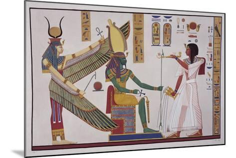 Ramesses Iv in Front of God Ptah-Sokari-Osiris-Ippolito Rosellini-Mounted Giclee Print