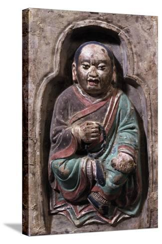 Sitting Monk--Stretched Canvas Print
