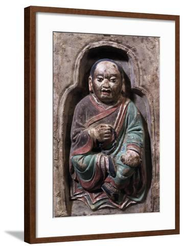 Sitting Monk--Framed Art Print
