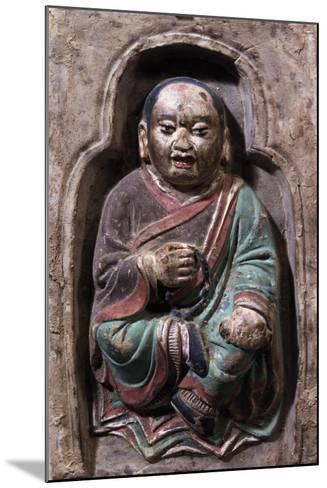 Sitting Monk--Mounted Giclee Print