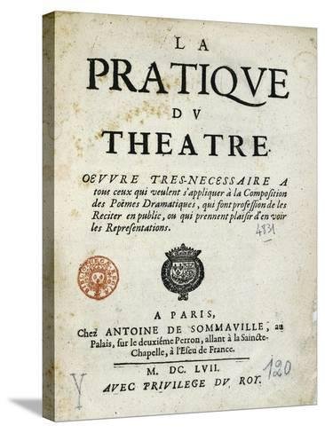 Title Page of 1657 Edition of Whole Art of Stage--Stretched Canvas Print