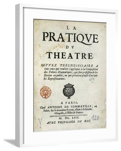 Title Page of 1657 Edition of Whole Art of Stage--Framed Art Print