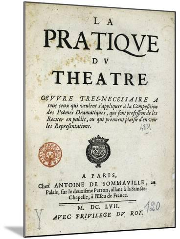 Title Page of 1657 Edition of Whole Art of Stage--Mounted Giclee Print