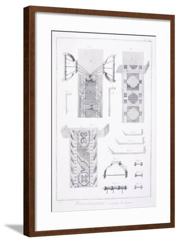 Trimmings, Plate Showing Patterns of Galloons from Denis Diderot--Framed Art Print