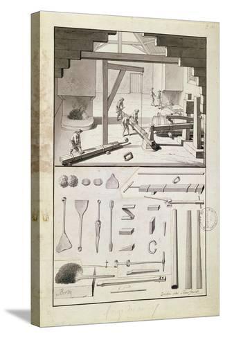 Foundry, Drawing for the 'Description Des Arts Et Métiers'--Stretched Canvas Print