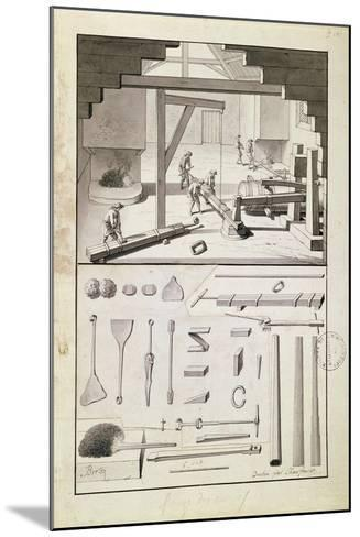 Foundry, Drawing for the 'Description Des Arts Et Métiers'--Mounted Giclee Print